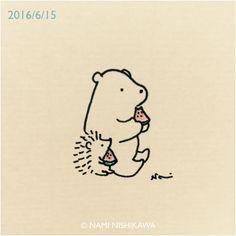 884 スイカ slices of watermelon Hedgehog Drawing, Hedgehog Craft, Cute Hedgehog, Hedgehog Illustration, Cute Illustration, Easy Drawings, Doodle Art, Cute Cartoon, Cute Art