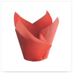 2 x 2 x 3x1/2 Small Red Tulip Cupcake Wrapper/Case of 2500