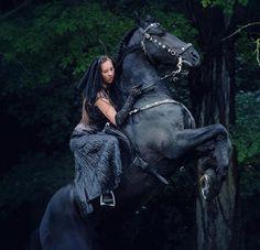 Gypsy on a horse