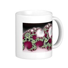 Popular Pretty Coffee Mug!  This graphic is customizable and represents a whole line of products in my fractal art store!  Thanks for looking!