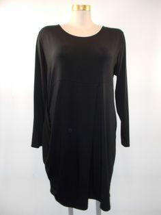 Chalet - Bamboo/Cotton Black Detail Front/Side Botton Dress
