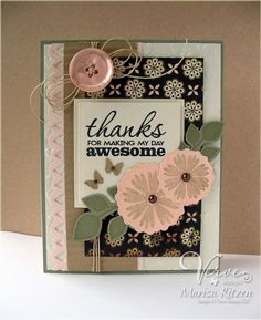 Great card using Bloom and Grow Dream Big Stamps and the folliwing dies: Dreamy Leaves, Floral Circles, Scalloped Trim Trio Set from http://www.rosemary-reflections.blogspot.com