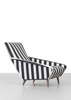 """""""His unique designs still have relevance today, as the originals are considered valuable collectors items and some creations are continually re-issued by various manufacturers"""" - PONTI ARCHIVES - (""""Distex"""" Lounge Chair designed by Gio Ponti in 1953. Materials: Silk, Walnut)"""