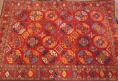 9x12 Turkman Khiva in Natural Dyes at Nomad Rugs of San Francisco