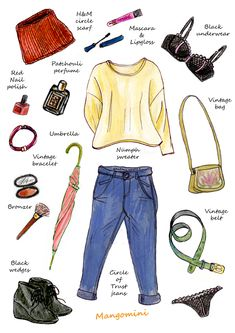 What i wore today web Fashion Design Drawings, Fashion Sketches, Rainy Day Fashion, Winter Fashion, Fashion Art, Fashion Beauty, Beauty Illustration, Watercolor Fashion, Drawing Clothes