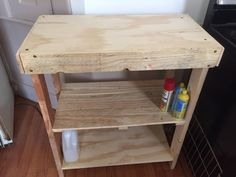 Needed Something for the Kitchen. Pallet Wood and Plywood
