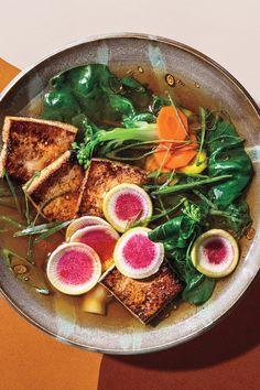 Stir Fry Recipes, Tofu Recipes, Vegan Dinner Recipes, Vegan Dinners, Vegetarian Recipes, Korean Recipes, Japanese Recipes, Vegan Soups, Protein Recipes