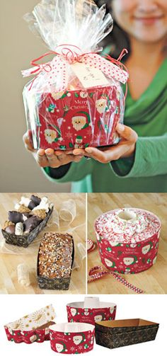 Bake. Serve. Give. Decorated paper bakeware simplifies Christmas gifts.