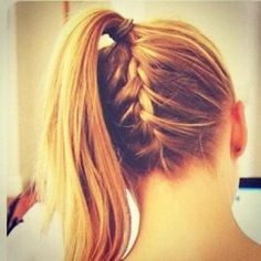 upside down french braid ponytail