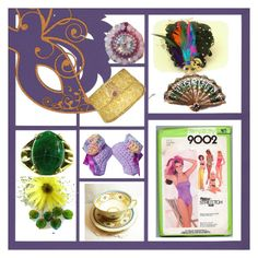 """Mardi Gras"" by sabine-promote ❤ liked on Polyvore featuring Masquerade"