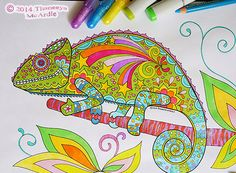 Groovy Animals Coloring Pages — Art is Fun