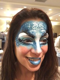 Quick ice queen design Halloween make up by Athena Zhe