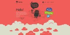 20 web design avec des animations et interactions en parallaxe   Blog du Webdesign