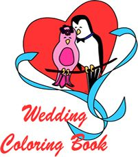 DIY wedding coloring book how-to project including a cute lovebirds printable cover. LeeHansen.com Printables