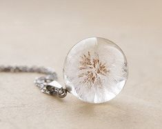 Dandelion Puff Pendant Great Gift for a best friend Dandelion wish jewelry Real Dandelions best frie Dandelion Necklace, Rose Necklace, Resin Jewelry, Handmade Jewelry, Unique Jewelry, Jewelery, Jewelry Necklaces, Jewelry Making, Bling