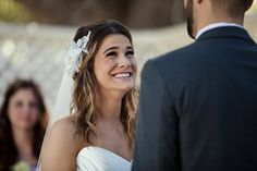 I love this look of pure joy during their wedding vows www.frenzelstudios.com