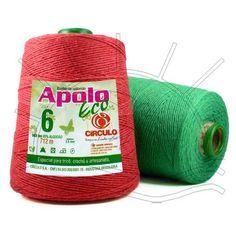 Barbante Colorido Apolo Eco nº06 4/6 - 6 Fios - 712m Composição: 85% Algodão Fabricante: Círculo