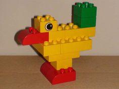Duplo Animal - Bird Lego Basic, Lego Duplo, Lego Therapy, Modele Lego, Custom Puppets, Used Legos, Construction For Kids, Construction Worker, Lego Club