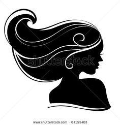 stock vector : Beautiful woman silhouette