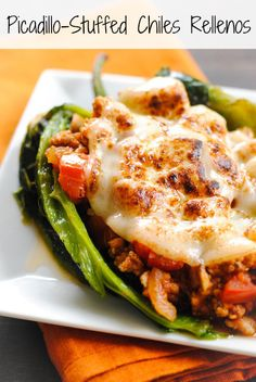 Picadillo Stuffed Chiles Rellenos by Foxes Love Lemons, via Flickr