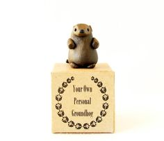 Groundhog Figurine  Your Own Personal Groundhog by bewilderandpine on Etsy