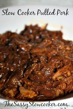 Only 2 easy steps to make this tasty homemade crock pot pulled pork.