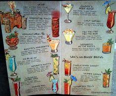Trader Sam's Drink Menu - Disneyland Hotel