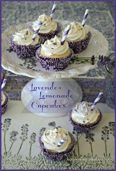 Lavender Lemonade Cupcakes-