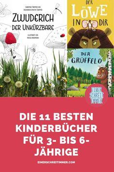 """Wir haben die schönsten Kinderbücher für 3- bis 6-Jährige für euch gesucht und natürlich auch gefunden: Von """"Die kleine Raupe Nimmersatt"""" über den Grüffelo bis hin zu """"Zwuderich der Unkürzbare"""". #einerschreitimmer #zwillingsblog #mamablog #elternblog #buchtipps #kinderbuch #zwuderich #kleineraupeNimmersatt 2 Kind, Pinterest Marketing, Audio Books, Entertaining, Baby, Kids, Raising Kids, Books For Kids, Learn To Read"""