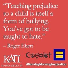 From our partners at  @kappadeltapi - Let's teach love and understanding instead.  #MondayMorningInspiration #goviewyou