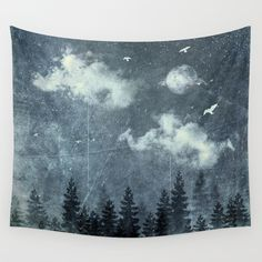 The cloud stealers Wall Tapestry by HappyMelvin | Society6