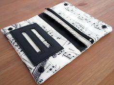 Blague à tabac en tissu note de musique : Etuis, mini sacs par au-fil-de-syl