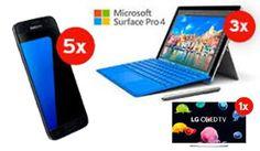 Gewinne mit Interdiscount und ein wenig Glück 5 x 1 Samsung Galaxy S7, 3 x ein Microsoft Surface Pro 4 Laptop und Tablet, einen 1 LG UHD Fernseher, 10 x 1 UE Boom 2 und 2 x einen Outdoorchef Gasgrill. https://www.alle-schweizer-wettbewerbe.ch/gewinne-galaxy-s7-surface-pro-fernseher/