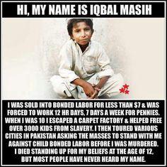 R. I. P. Iqbal Masih