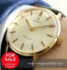 Neu Original Omega Geneve Damenarmbanduhr aus Vollgold