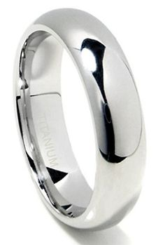 100% Titanium 6mm Dome Style Wedding Band (Mens & Womens, Engagement, Promise, Ring)
