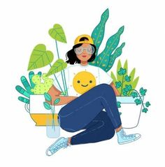 Megan Pelto Illustration — California Plant LadyYou can find illustration girl and more on our website.