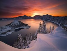 This view soothes my soul - Sunset at Crater Lake