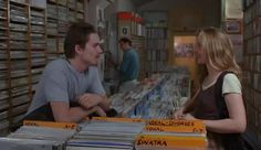 Before Sunrise (1995) Ethan Hawke & Julie Delpy in the records store.