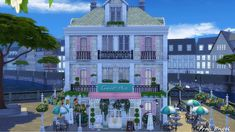 Best Sims Collection: [SIMS 4][LOTS] Ice Cream Cafe from Frau Engel
