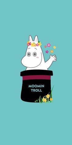 • MOOMIN 해피무민: 배경화면/잠금화면 : 네이버 블로그 Moomin Wallpaper, Iphone Wallpaper, Cartoon Hippo, Moomin Valley, Kakao Friends, Tove Jansson, Kids Lighting, Troll, Embroidery Patterns