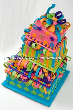 Mad Hatter Acid Trip Cake