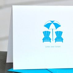 Wedding Thank You Cards  Life's a Beach Chair by deanpennandpaper, $18.00