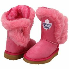 Cuce Toronto Maple Leafs Toddler Girls Mini-Me Fanatic Boots - Pink