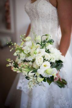 A white garden bouquet: http://www.stylemepretty.com/australia-weddings/western-australia-au/perth/2015/05/19/elegant-perth-garden-wedding/   Photography: Amelia Claire - http://www.ameliaclairephoto.com/