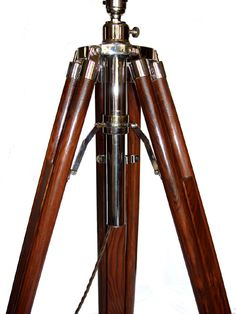 Large Brown Rosewood Nickel Tripod Lamp Stand [37691] - £128.50 : 4himonly, The store for mens luxury goods and gifts