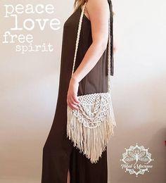BOHO bag macrame fringed bag hippie woven bohemian chic summer