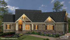 Westbrooks II Cottage House Plan # 11117 G, Front Elevation, Craftsman, Mountain Style House Plans