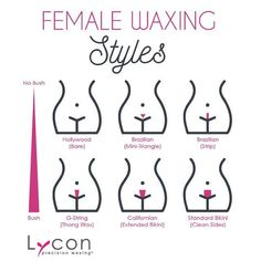 Explaining the different female waxing styles on Insta!    YCON is your best friend for precise and virtually painless waxing. ROSETTE HOT WAX XXX is our most popular product for all female waxing styles. This premium, creamy pink wax with Chamomile and R http://besthairremoving.com/best-hair-removal-guide/hair-removal-methods-at-home/remove-facial-hair-permanently-with-honey/