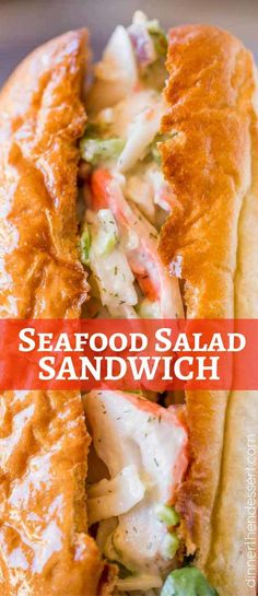 Crab Salad Seafood Salad Sandwich with easy to make Seafood salad!